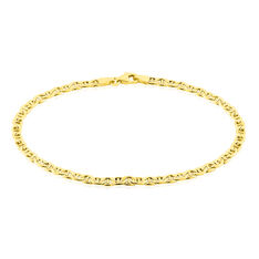 Bracelet Capucin Maille Marine Plate Or Jaune - Bracelets mailles Homme | Marc Orian