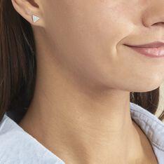 Boucles D'oreilles Puces Brendana Argent Blanc Oxyde De Zirconium - Clous d'oreilles Femme | Marc Orian