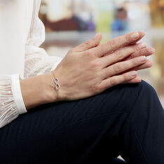 Bracelet Gwenaella Argent Blanc Oxyde De Zirconium - Bracelets chaînes Femme | Marc Orian