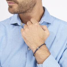 Bracelet Fabrice Acier Blanc - Bracelets cordons Homme | Marc Orian