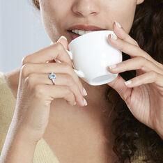 Bague Annchen Or Blanc Topaze Et Oxyde De Zirconium - Bagues Femme | Marc Orian