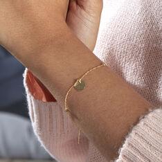 Bracelet Cobeia Croix Maille Forçat Or Jaune - Bracelets chaînes Femme | Marc Orian