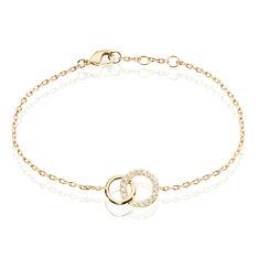 Bracelet Poeae Plaque Or Jaune Oxyde De Zirconium - Bracelets chaînes Femme | Marc Orian