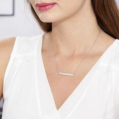 Collier Suzeanne Argent Blanc Oxyde De Zirconium - Colliers Femme | Marc Orian