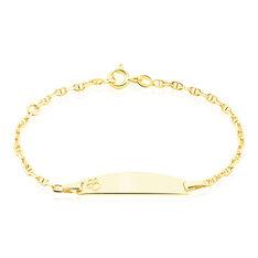 Bracelet Identite Bebe Or Jaune Haina - Gourmettes Enfant | Marc Orian