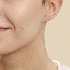 Boucles D'oreilles Puces Eddie Or Blanc Oxyde De Zirconium - Clous d'oreilles Femme | Marc Orian