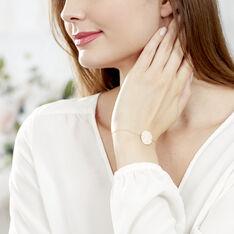 Bracelet Pastille Gravable Or Rose - Bracelets chaînes Femme | Marc Orian