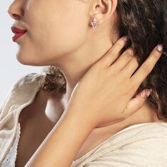 Bijoux D'oreilles Katie Argent Blanc - Boucles d'oreilles Ear cuffs Femme | Marc Orian