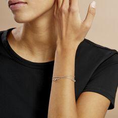 Bracelet Noelle Argent Blanc - Bracelets chaînes Femme | Marc Orian