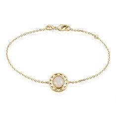 Bracelet Plaque Or Li-nei Ovale Pierre De Lune - Bracelets chaînes Femme | Marc Orian