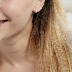 Créoles Andgelina Rondes Or Jaune Oxyde De Zirconium - Boucles d'oreilles Créoles Femme | Marc Orian