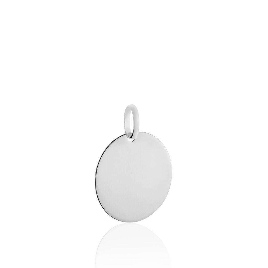 Pendentif Or Blanc Pastille - Pendentifs Femme | Marc Orian