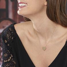 Collier Coeur Gravable Or Jaune - Colliers Femme | Marc Orian