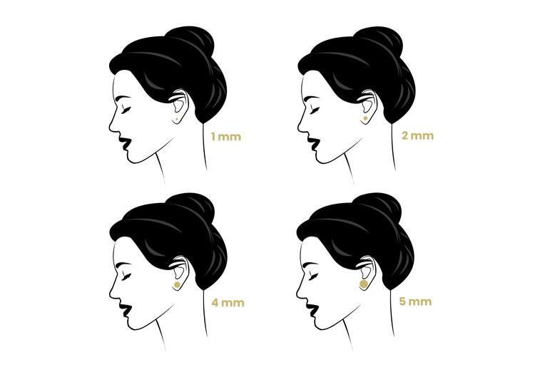 guides des tailles puces d'oreilles