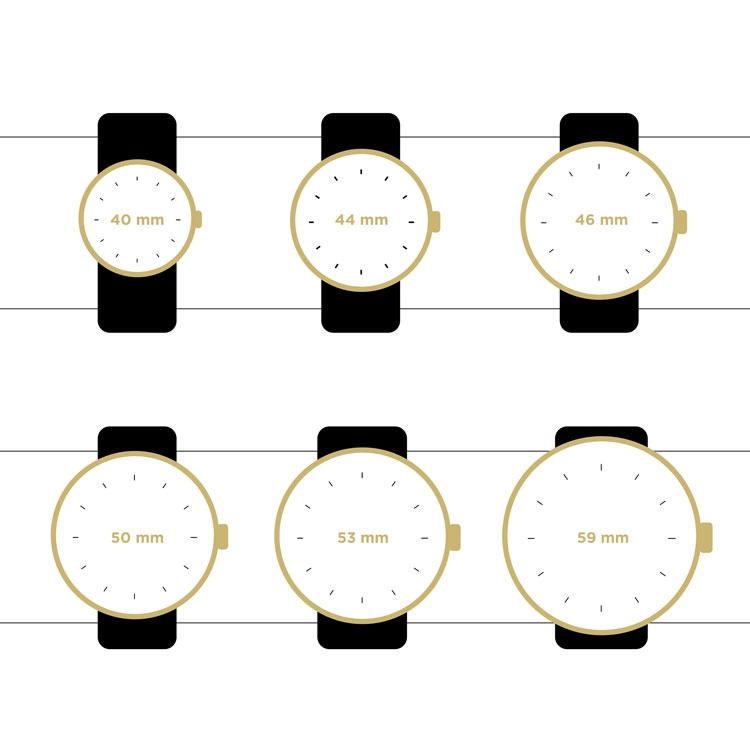 guides des tailles montres pour homme